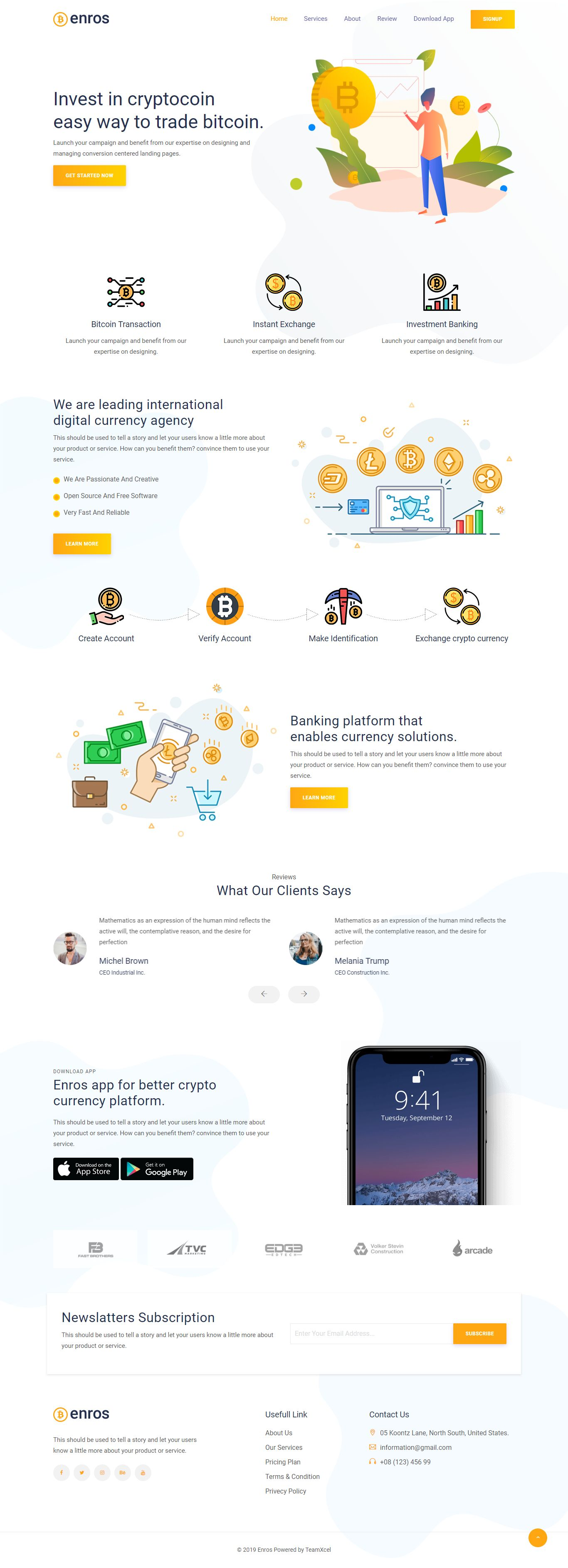 bitcoin cryptocurrency landing page html template. Black Bedroom Furniture Sets. Home Design Ideas