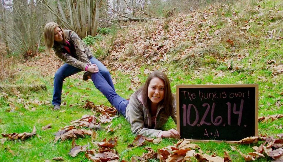 Lesbian Engagement Photo, The Hunt Is Over, Lgbt Wedding, Lesbianu2026