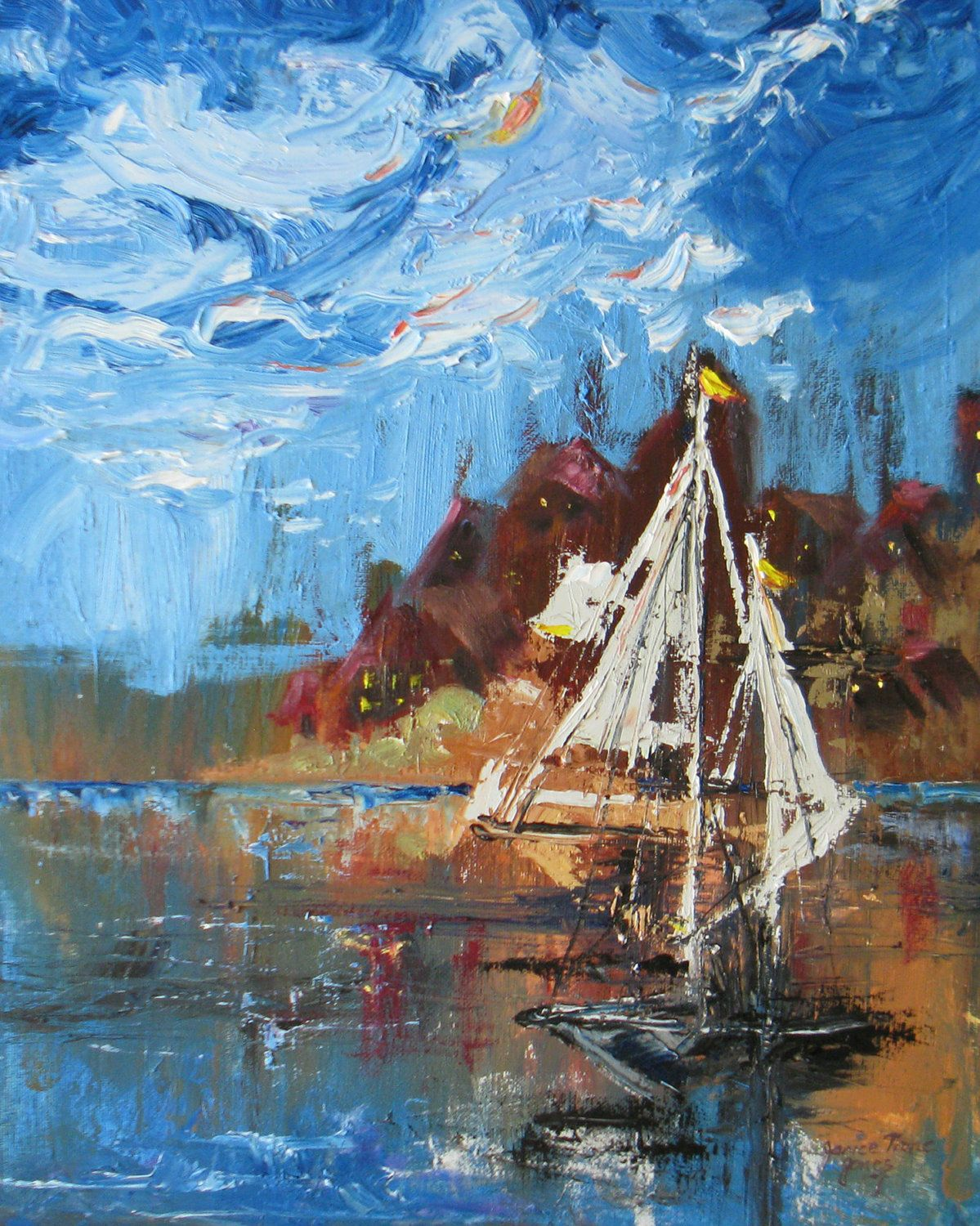 impressionism with palette knife   Painting Inspiration   Pinterest