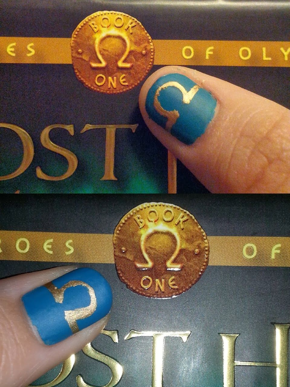 Lili Lost in a Book: Book Inspired Nail Art: The Lost Hero (Heroes of Olympus #1) by Rick Riordan