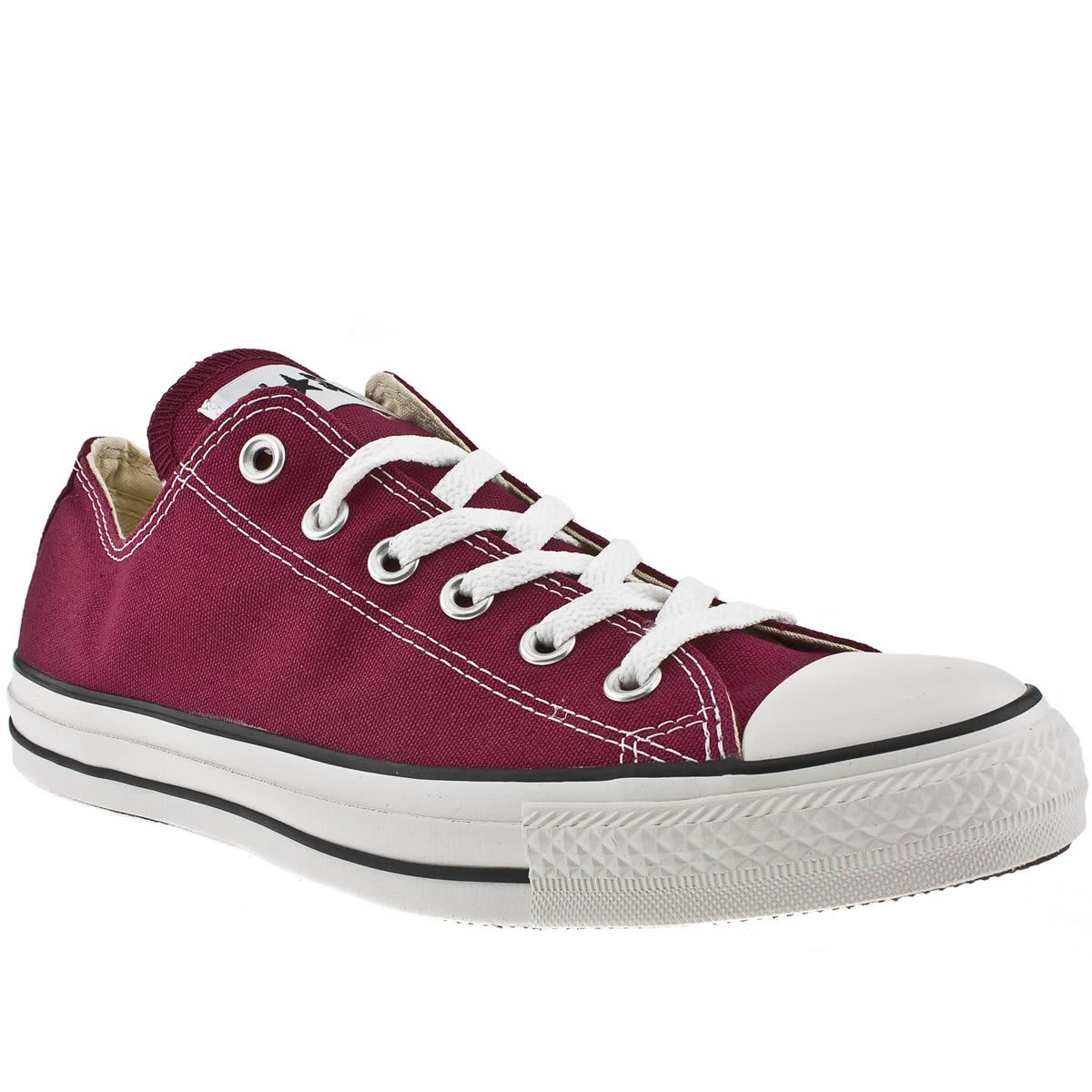 mens converse burgundy all star lo trainers