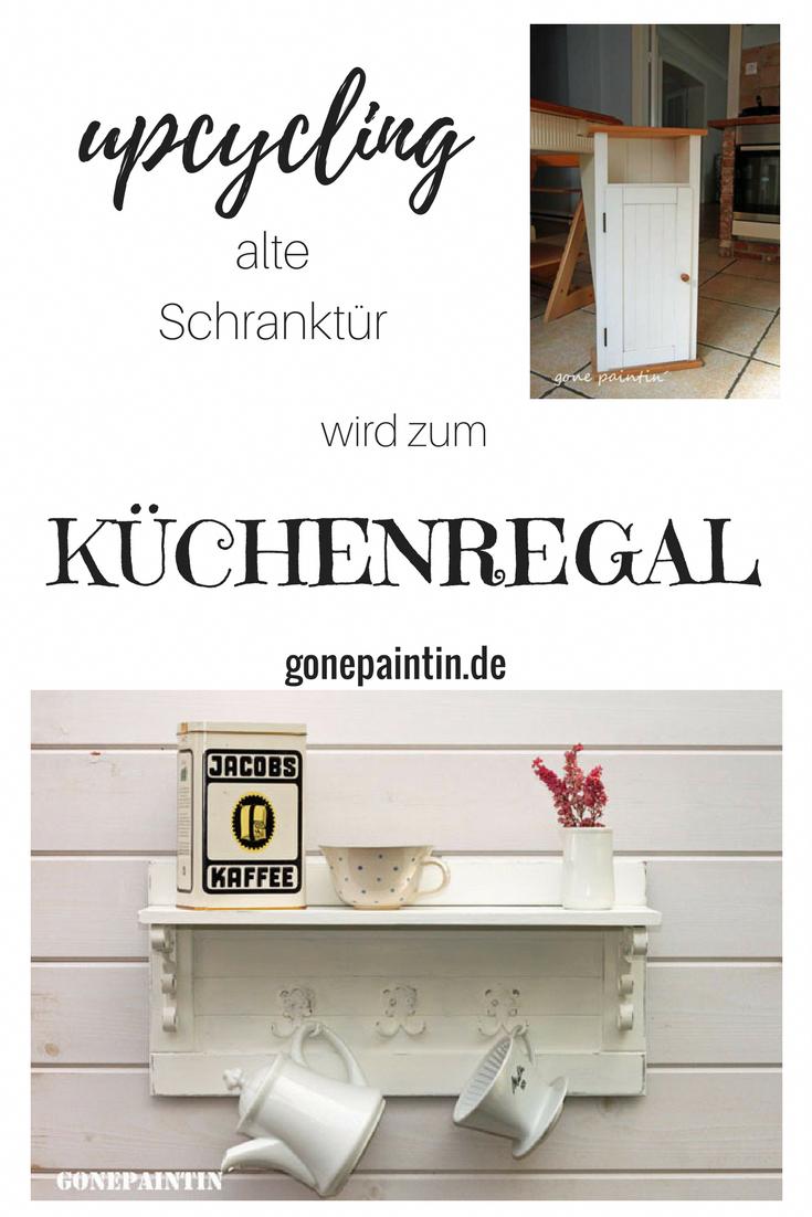 Ikea Hack Alte Schranktur Wird Zum Kuchenregal Gonepaintin
