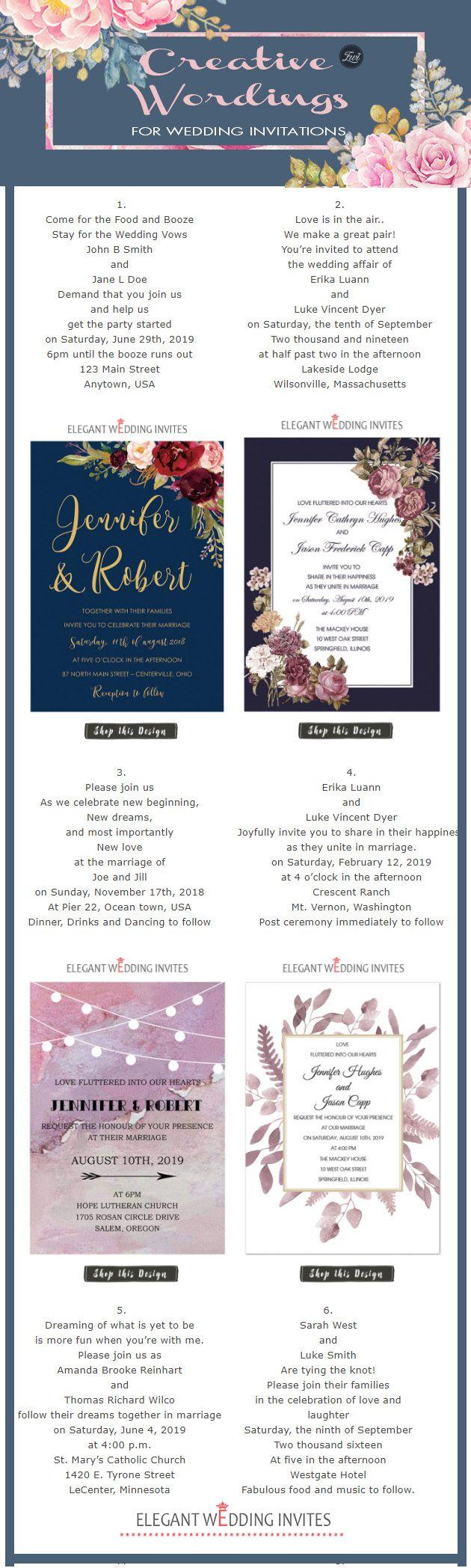 Outside fall wedding decorations february 2019  Creative Wedding Invitation Wordings to Inspire  Wedding