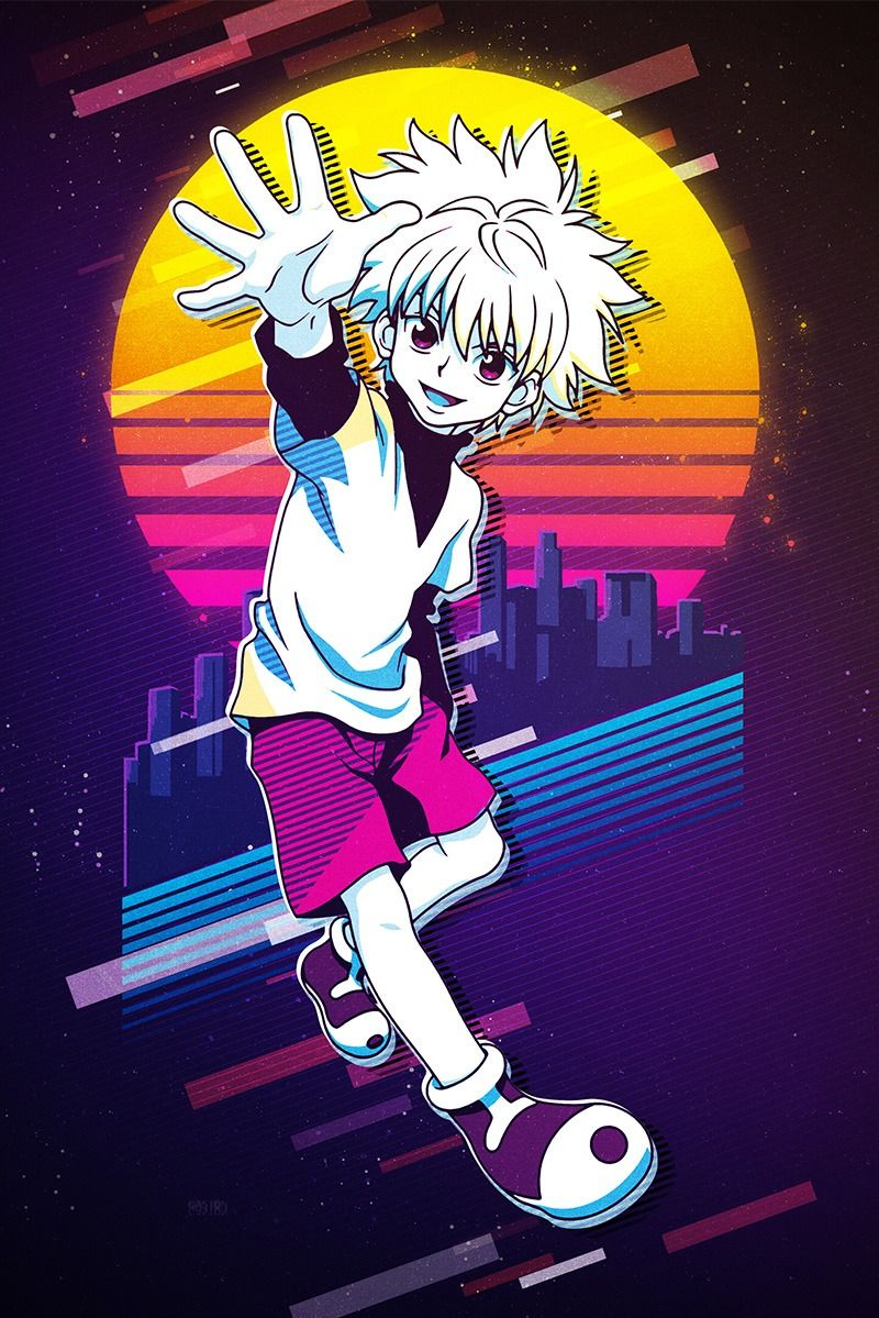 Killua Pop Art Poster Print metal posters en 2020 (avec