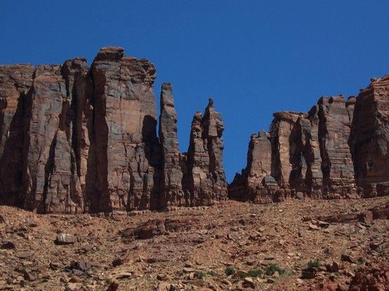 Taken on the road in Utah. The stones almost seemed like ...