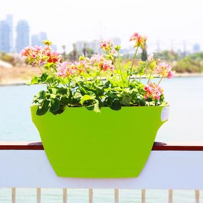 Greenbo - Greenbo XL Rail Planter 2 Pack Apple Green ... on post planters home depot, patio planters home depot, brick planters home depot, plant pots home depot, vertical garden home depot, window planters home depot, trellis planters home depot,