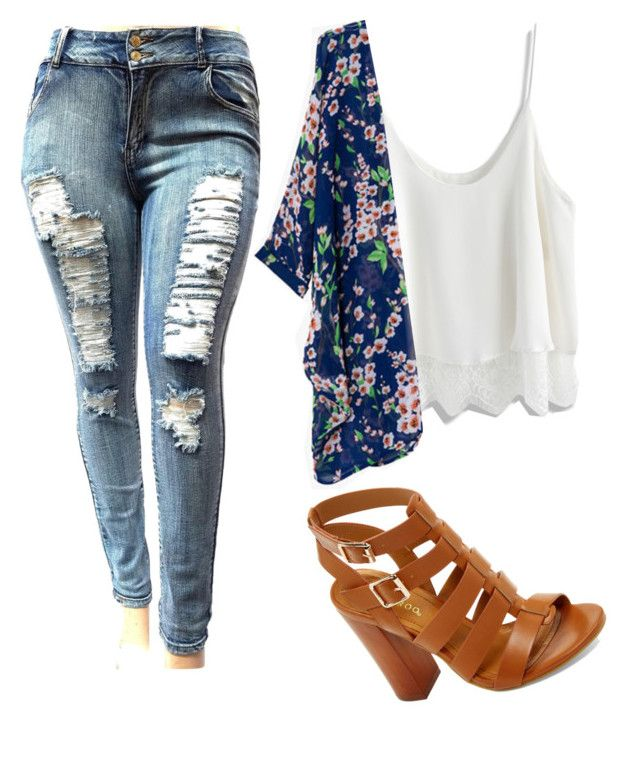 """""""Untitled #1836"""" by mikaelaryan ❤ liked on Polyvore featuring Chicwish and Bamboo"""