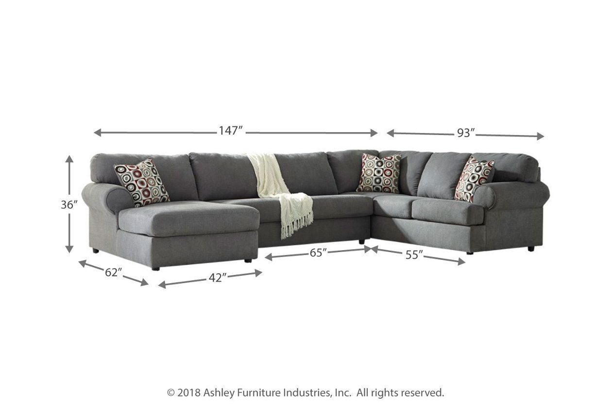 Basement Jayceon 3 Piece Sectional With Chaise Ashley Furniture