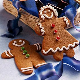 Gingerbread men cookies that can be cut into fun shapes for the holiday season.