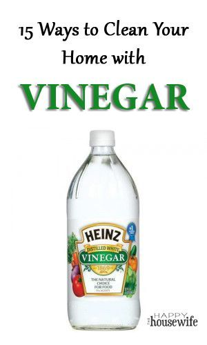 15 Ways to Use Vinegar to Clean Your Home. Vinegar is a great natural cleaner…