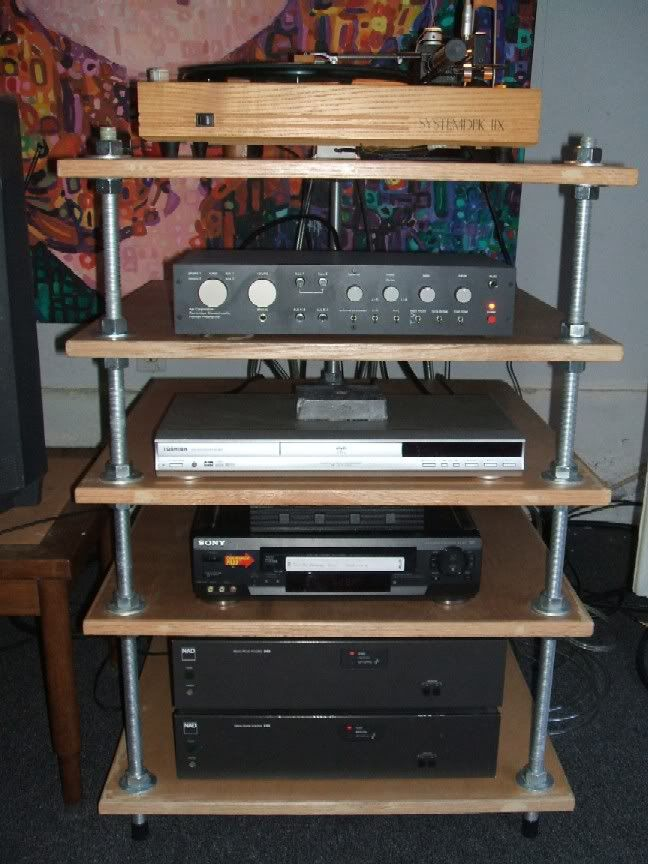 My DIY stereo rack, since some have asked Stereo