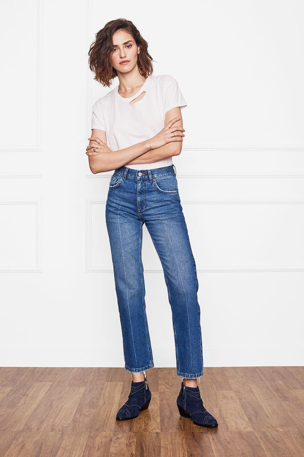 478d3ac1157 ANINE BING Jackie Jeans | Decorating the body | Jeans, Vintage jeans ...