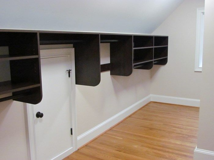 Closet Works Custom Closet And Storage Systems For Es With Angled Ceiling  Closet Rod Hanger Brackets Closet Storage 5 Tips For A Small Closets With  Sloped ...