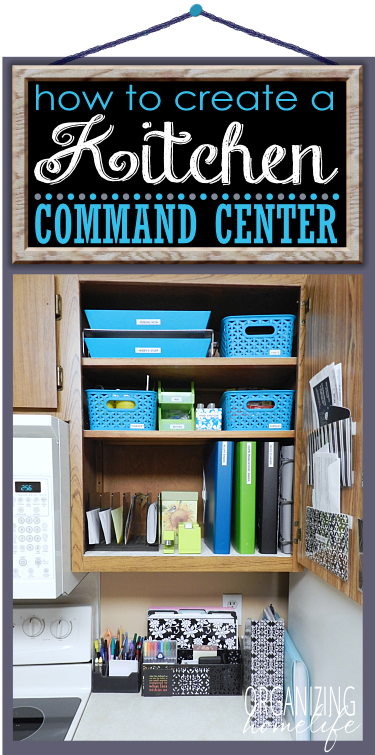 Awesome How To Create A Kitchen Command Center Part 2 ~ Organize Your Kitchen  Frugally Day 20   Organizing Homelife