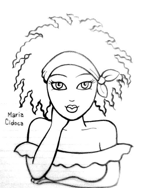 Menina Negra Ii Maria Cidoca Desenho De Mulher Negra Pinturas