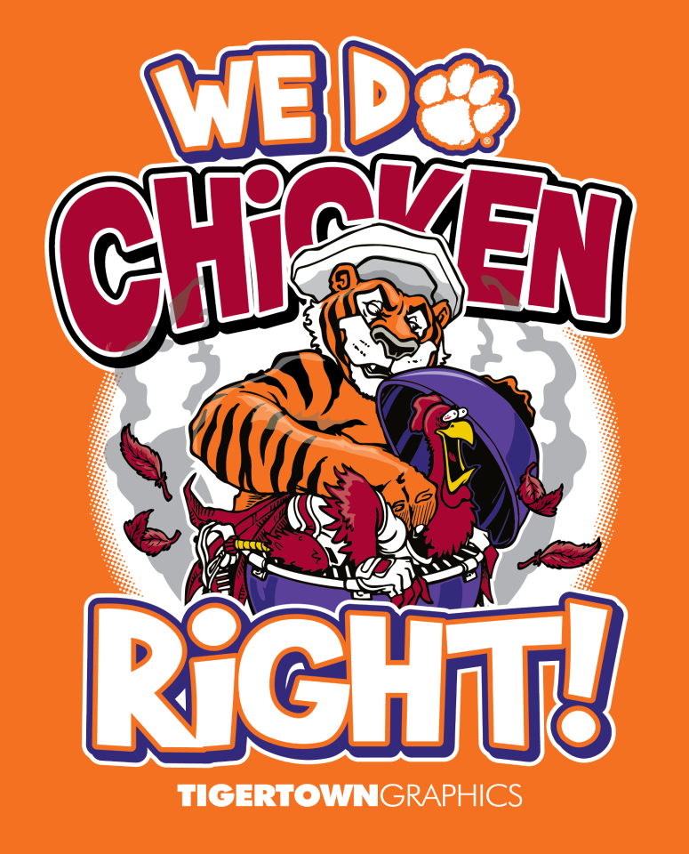 Clemson Clemson Do  Right! | football, tigers Chicken We