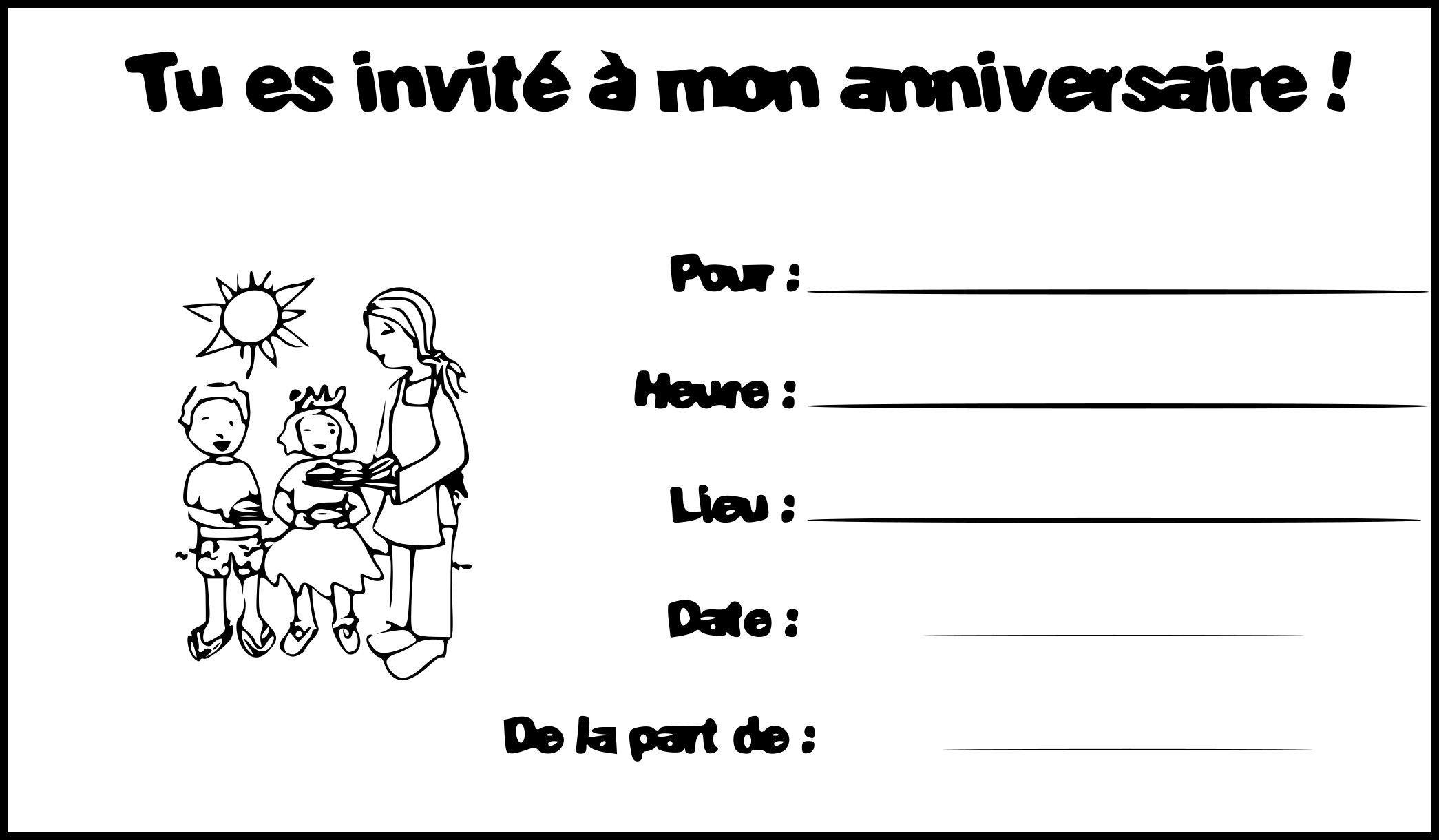 carte anniversaire cartes invitation