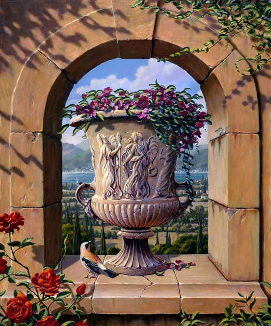 Robert Niche Painting : robert, niche, painting, Niche, Tuscany, Artist, Embellished, Giclee, Canvas, Niche,, Painting