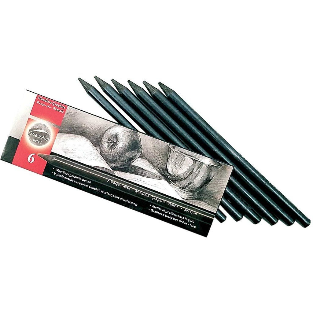 Woodless Graphite Pencil 12B - 2H - Set of 6 (2 Pack ...