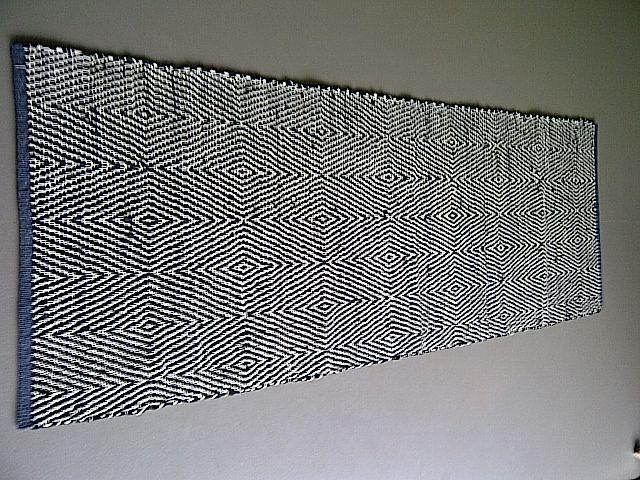 vloerkleed geweven van restanten leervia My moodz 200x70cm