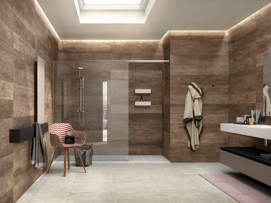 Wandtegel badkamer houtlook | Wandbekleding tegels | Pinterest ...