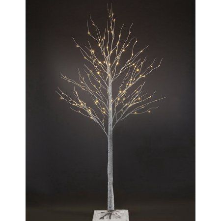 Patch Magic 7 ft LED Lighted White Artificial Birch Christmas Tree