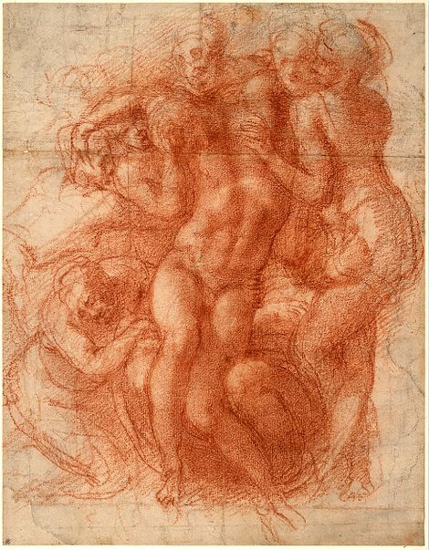 Michelangelo Buonarroti, Lamentation (recto), c. 1530 (c. 1530) on ArtStack #michelangelo-buonarroti #art