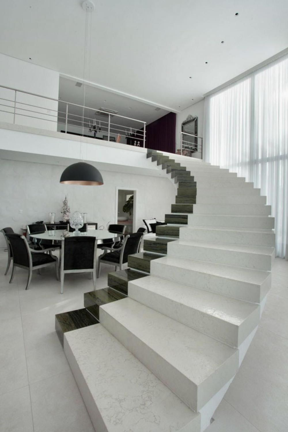 Modern Staircase with handless design DailyLifeBuff
