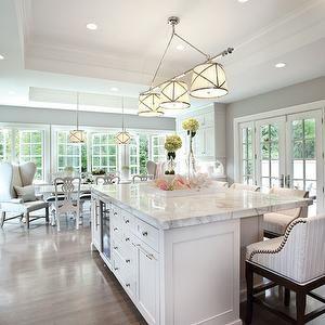 Elizabeth Kimberly Design Kitchens Open Plan Kitchen Center - Center island light fixtures