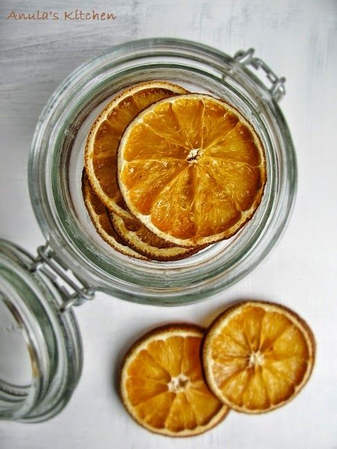 How to dry orange slices in the oven...
