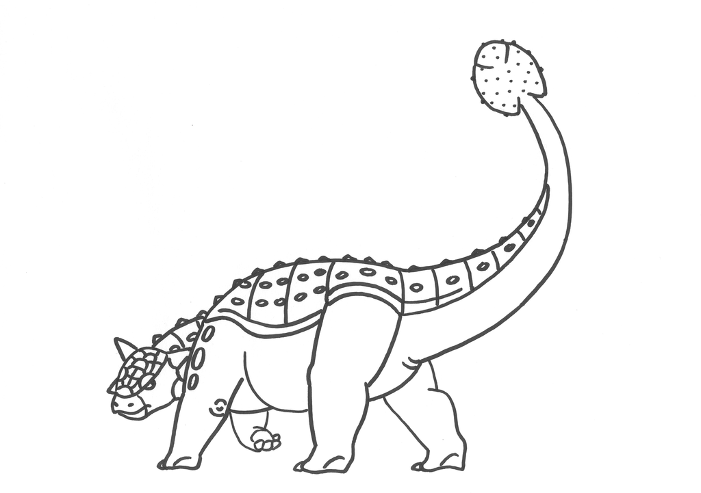 Awesome ankylosaurus coloring page special picture