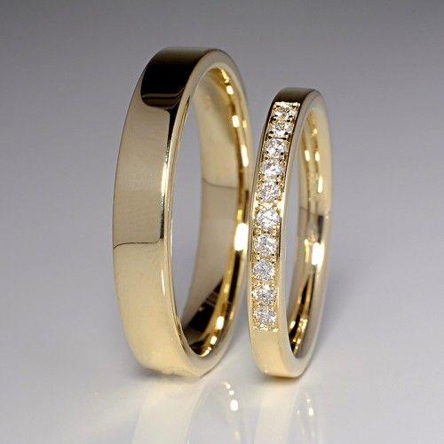 Verighete De Aur Gravate Modele Simple Aur Galben Aur Alb
