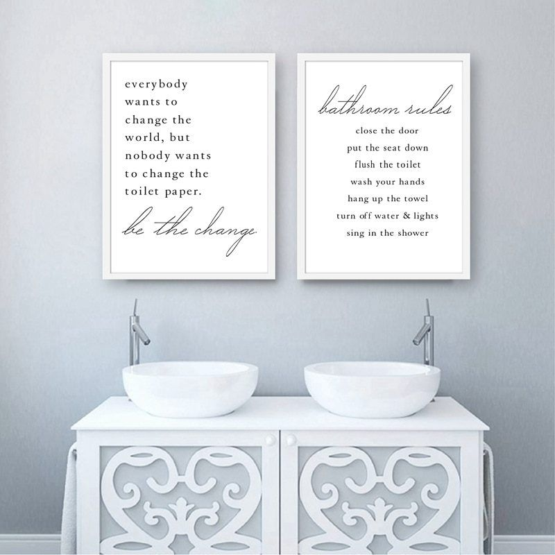 Bathroom Quote Canvas Posters And Prints Wall Pictures Modern Funny Bathroom Sign Art Painting Bathroom Wall Art Decor Bathroom Wall Art Bathroom Quotes Decor Bathroom Quotes