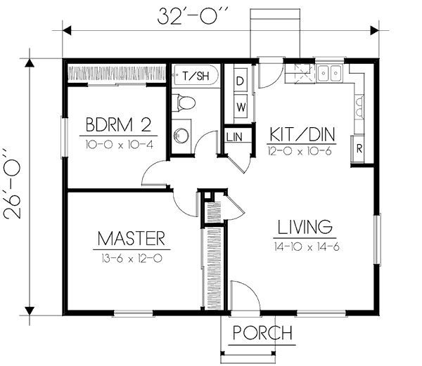 Image Result For 650 Square Foot 2 Bedroom House Plans Tiny House Floor Plans Small House Floor Plans Two Bedroom House