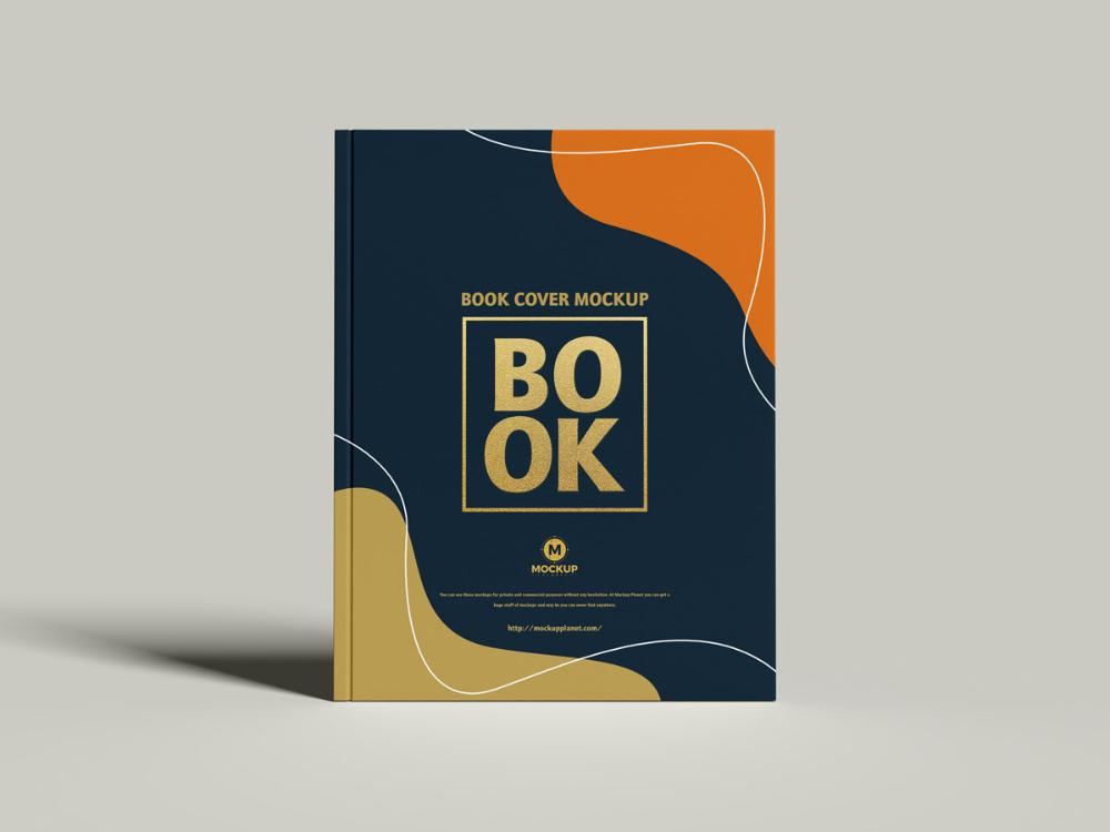 Free Cover Branding Book Mockup Design Mockup in
