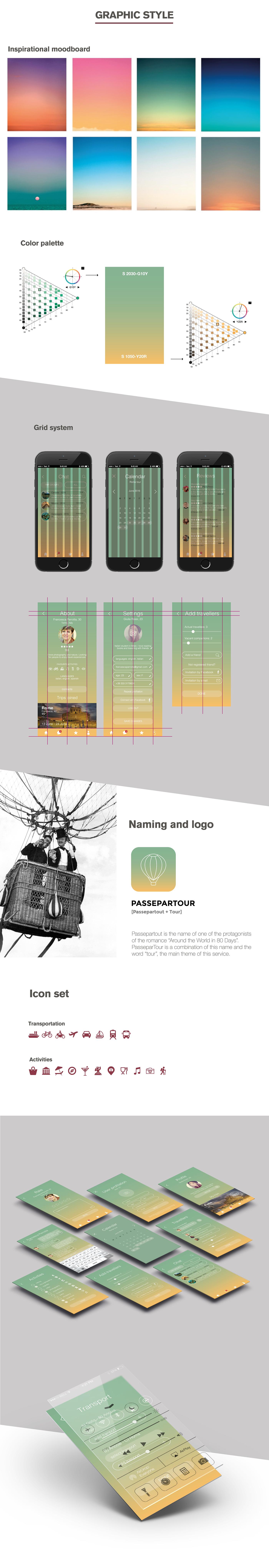 PasseparTour - traveling mobile application on Behance