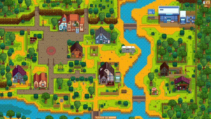 An 8k Image Of The Main Town How To Take A Screenshot Of Your Entire Stardew Valley Farm Stardew Valley Farms Stardew Valley Valley Game