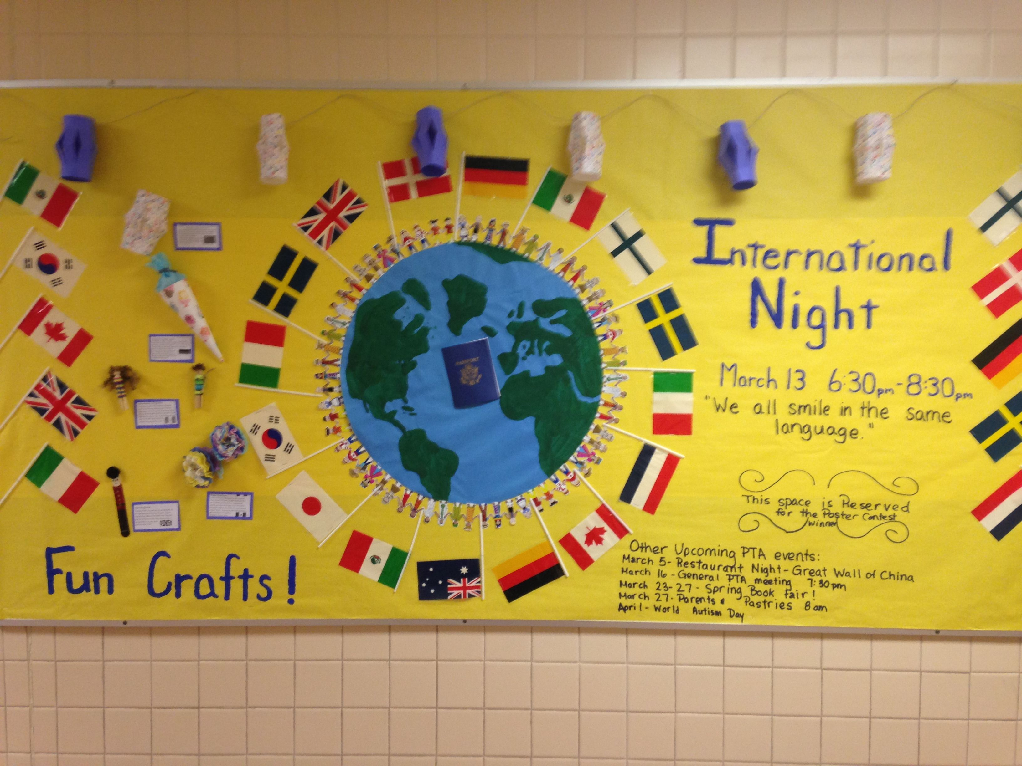 A Great Way To Advertise For Our International Night And