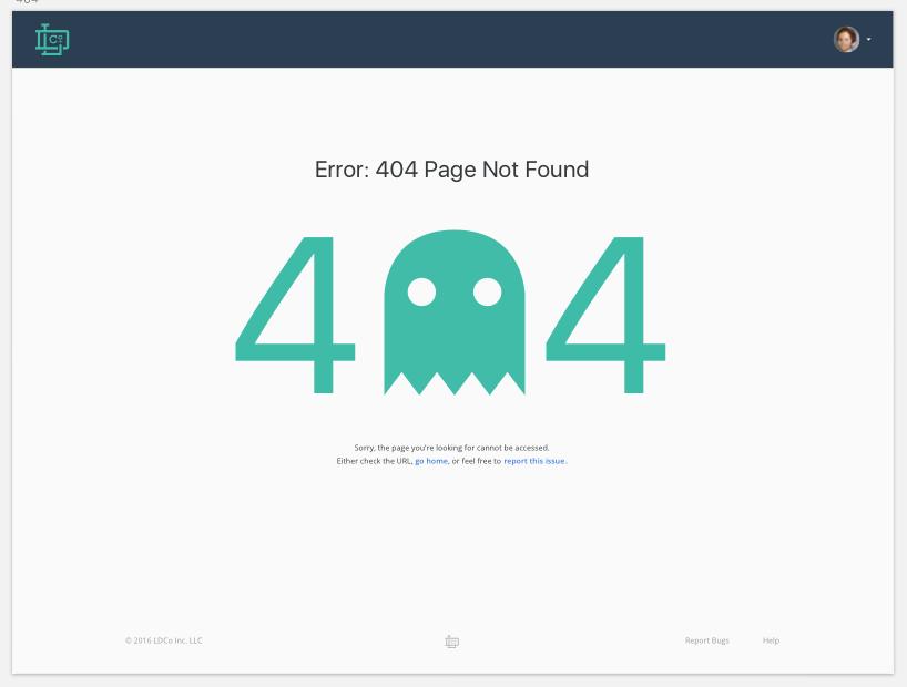 Example 404 / Server Error Style