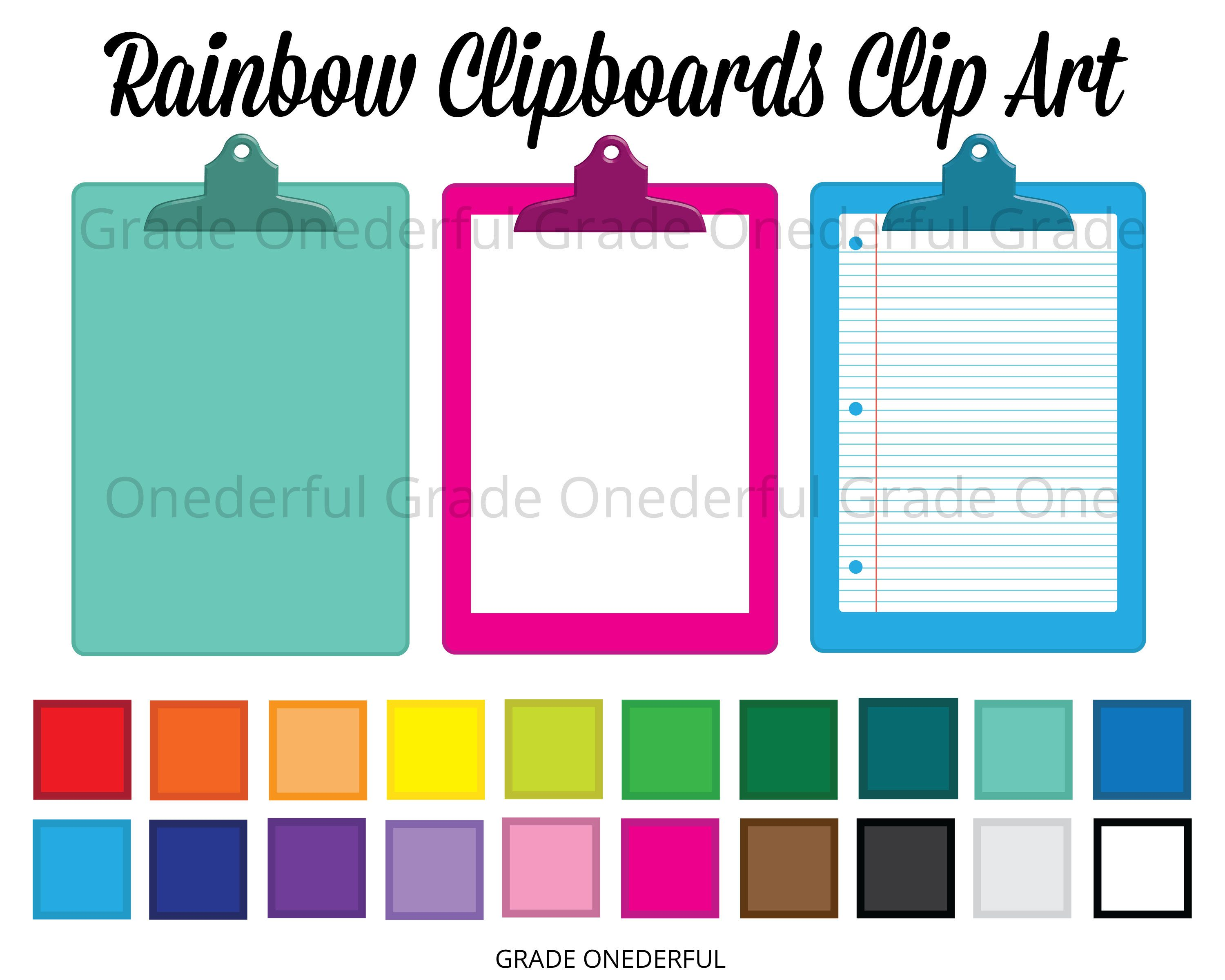 60 Clipboard Clipart Images Rainbow Clipboards Digital Etsy In 2020 Clip Art Business Card Icons Social Network Icons Download 57,721 clipboard free vectors. 60 clipboard clipart images rainbow