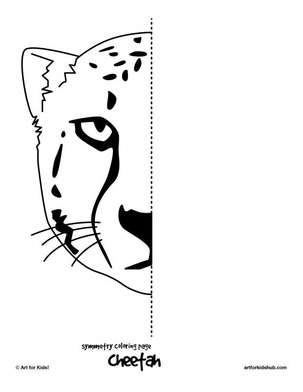 cheetah-symmetry insegnare 2 Pinterest Math measurement, Math - best of easy multiplication coloring pages