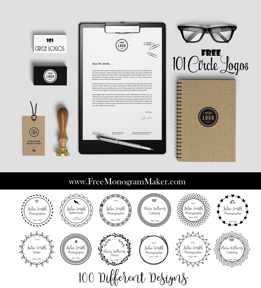 100 Free Round Logos customize online with free logo