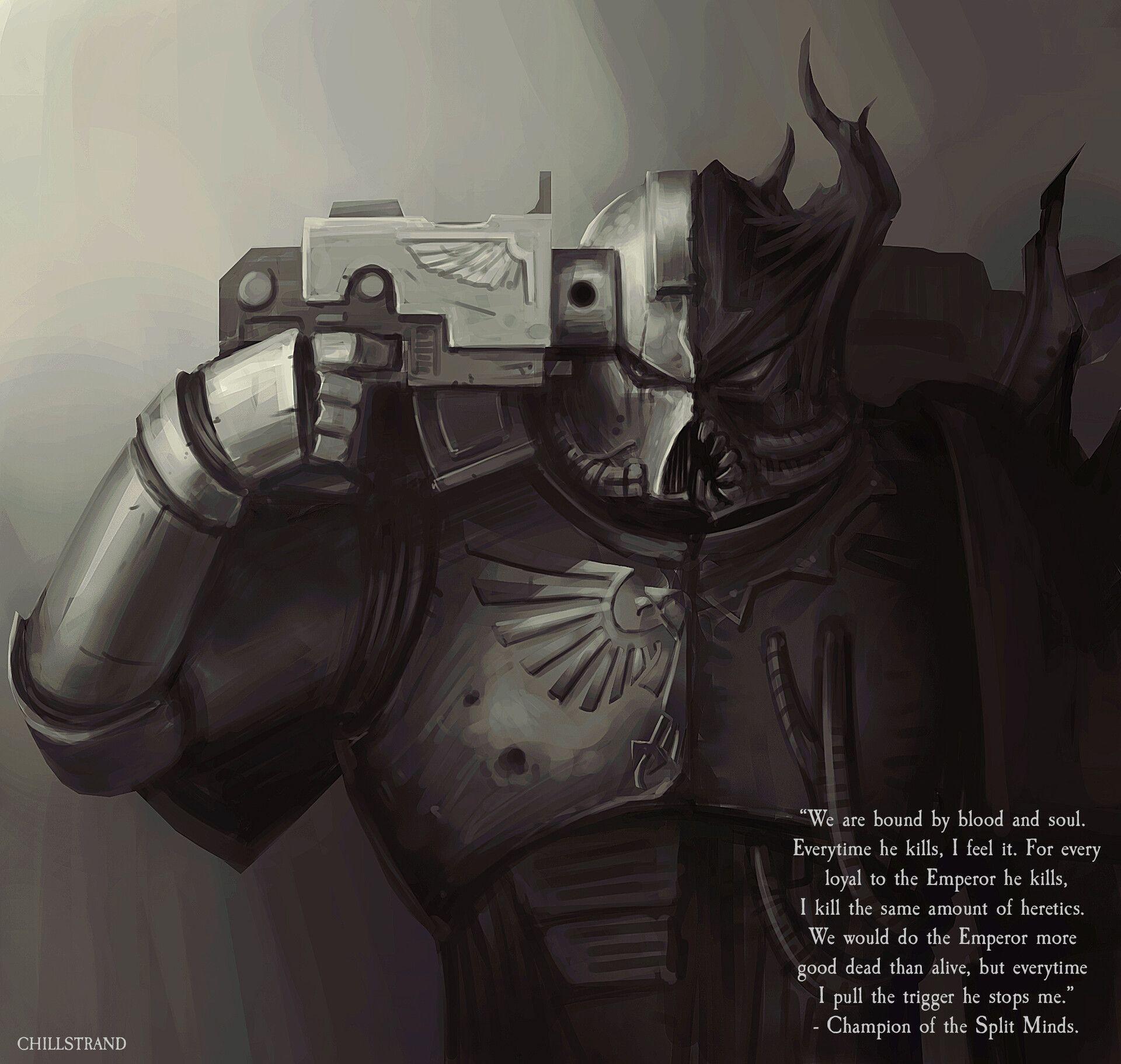 Warhammer 40000 Split Minds By Mikael Kihlstrand Warhammer Warhammer 40k Memes Warhammer 40k