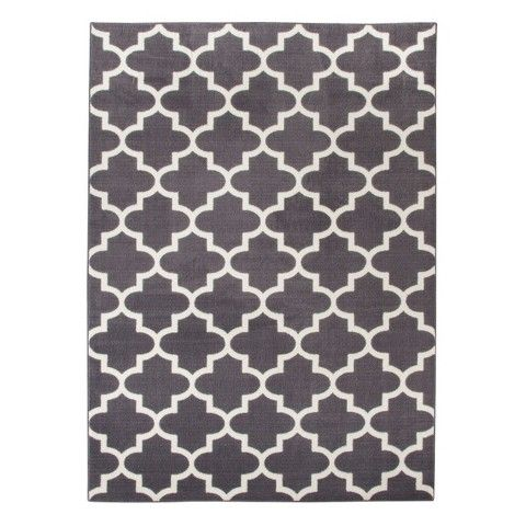 Threshold Fretwork Rug In Gray