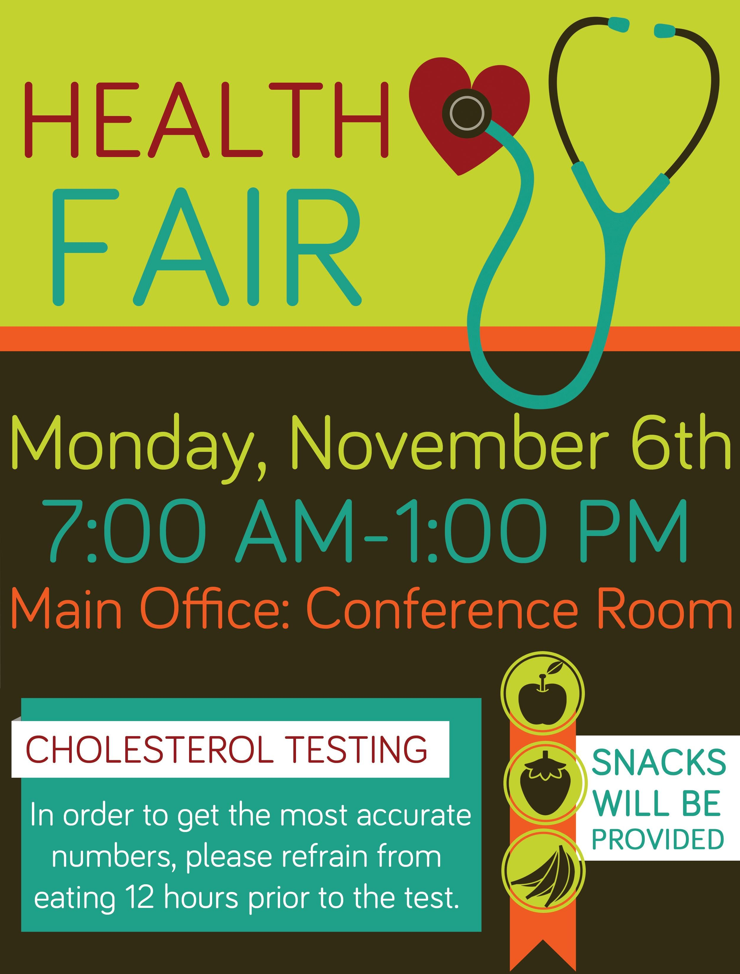 Company Health Fair Flyer, Graphic Design School Health Fair ...