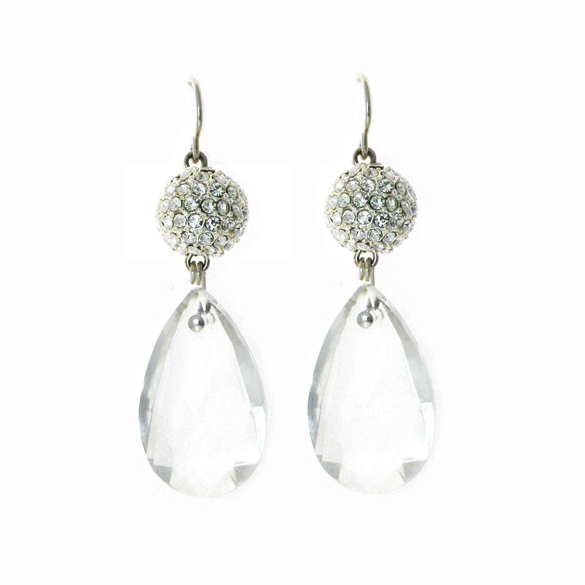 75 CATHERINE EARRINGS Bridal jewelry, Crystal earrings