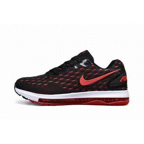 Homme Nike Air Max Zoom Accueillante Noir Rouge Outlet En ...