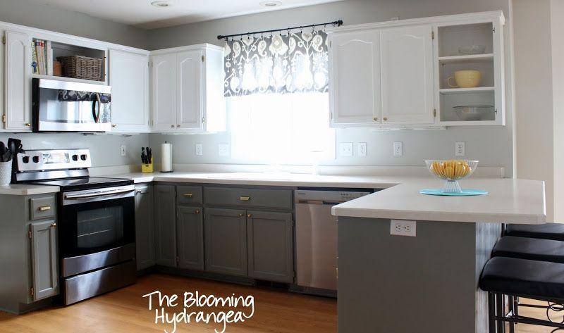 Wall Color Is Gray Owl By Benjamin Moore Lower Cabinets Are Desert Twilight By Benjamin Moore In Ace Kitchen Remodel Design Kitchen Wall Colors Kitchen Redo