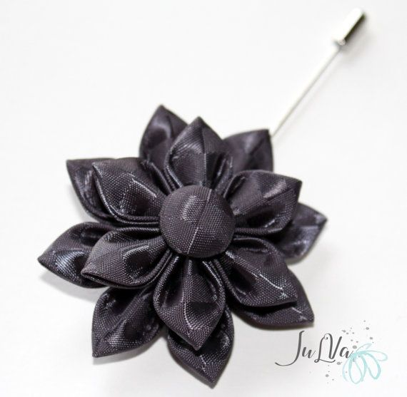 A Flower Is Made In The Technique Of Tsumami Kanzashi Flower Is Made From Satin Ribbons Flowers D 2 Inches 5 6 Cm Flower Lapel Pin Fabric Flowers Kanzashi