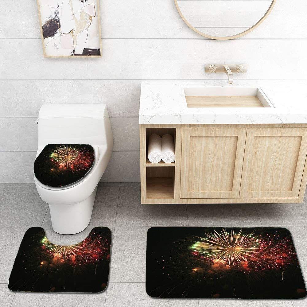 Bam Boom Fireworks 3 Piece Bathroom Rugs Set Bath Rug Contour Mat Toilet Bathroom Rug Sets Bathroom Rugs Long Bathroom Rugs [ 1000 x 1000 Pixel ]
